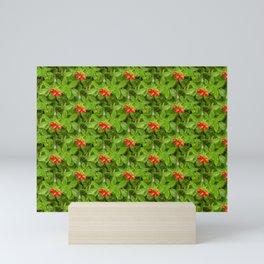 Rural life - red rose hips Mini Art Print
