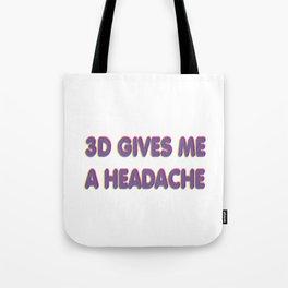 3D Headache Tote Bag
