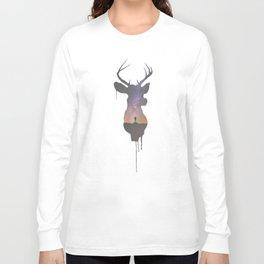 Deer Head V Long Sleeve T-shirt
