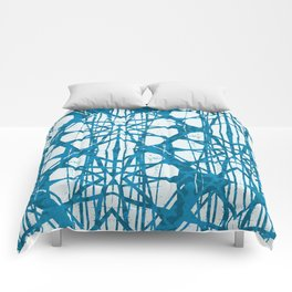 Blue and White Batik  Comforters