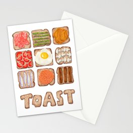 Breakfast Toast Stationery Cards