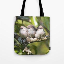 3 Bushtit Songbirds in the Pear Tree Tote Bag