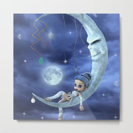 fairy moon Metal Print