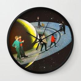 Saturn's Rink Wall Clock