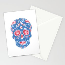 Hand draw skull Stationery Cards