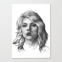 blondie Canvas Prints featuring Blondie by Codi Lee