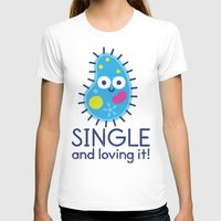 biology T-shirts featuring It's All About Paramecium by David Olenick
