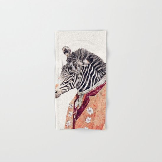 Zebra Cream Hand & Bath Towel