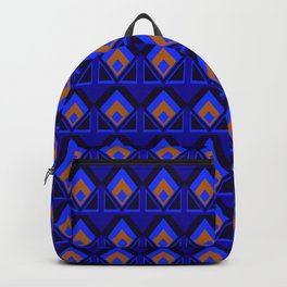 Blue and Orange Pattern Backpack