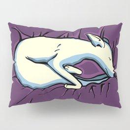 Sleeping Iggy Dog - Italian Greyhound - Whippet - Purple Pillow Sham