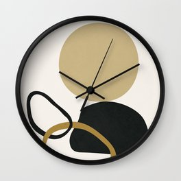 Abstract Minimal Art 12 Wall Clock