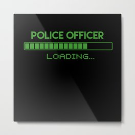 Police Officer Loading Metal Print