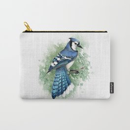 Blue Jay In Watercolor Carry-All Pouch