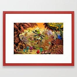 Grasshopper Blues Framed Art Print