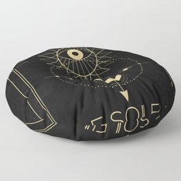 Le Soleil or The Sun Tarot Floor Pillow