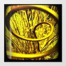 Peer into Yellow Canvas Print