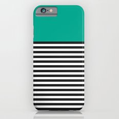 STRIPE COLORBLOCK {EMERALD GREEN} Slim Case iPhone 6