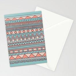 Tribal #4 (Coral/Aqua) Stationery Cards