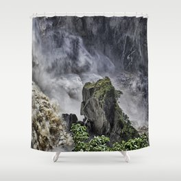 Chaotic water view Shower Curtain