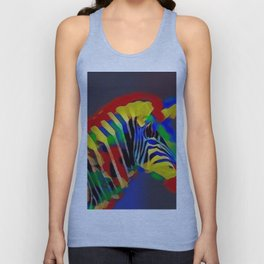 Abstract Rainbow Zebra Unisex Tank Top