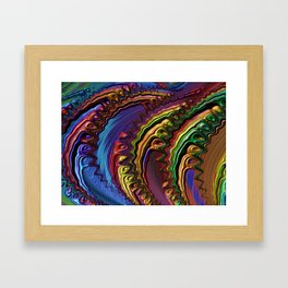 Fractal Art Frax Rainbow Colors Abstract Digitalart Gift Framed Art Print