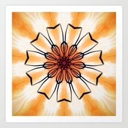 Marigold Flower Mandala Design Art Print
