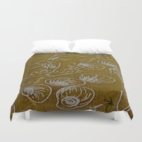 shells Duvet Covers featuring Shells by ANoelleJay