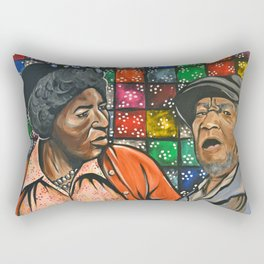Aunt Esther vs. Fred Sanford Rectangular Pillow