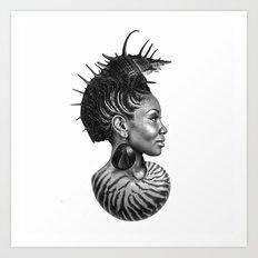 She Sells Seashells From Her Soul Art Print