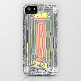 Glitch in the Style of Art Nouveau  iPhone Case