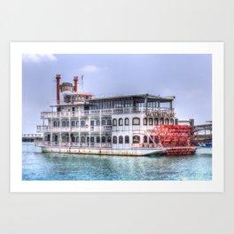 New Orleans Paddle Steamer Art Print
