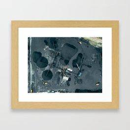 Aerial View of a Coal Mine Framed Art Print