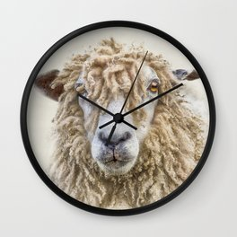 Longwool Sheep Wall Clock