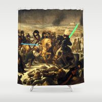 history Shower Curtains featuring Dark History by BGA CREATION