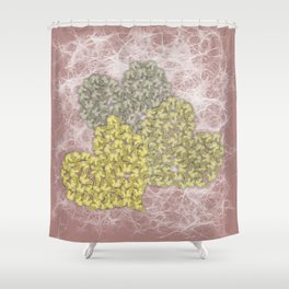 Fading butterfly hearts Shower Curtain