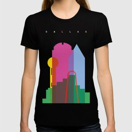 Shapes of Dallas. Accurate to scale. T-shirt