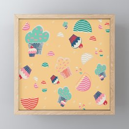 Cupcake yellow Framed Mini Art Print