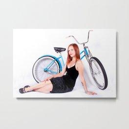 Bicycle Pinup Metal Print