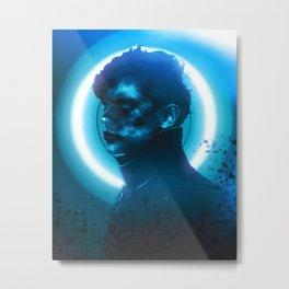 Neon dreams of a coal miner Metal Print
