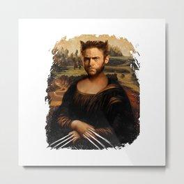 Hugh Jackman Mona Lisa Face Swap Metal Print