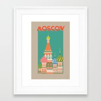 moscow Framed Art Prints featuring Moscow by Chay Lazaro