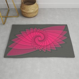 hypnotized - fluid geometrical eye shape Rug