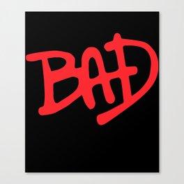 Bad Black Mj Jackson Fit Gym Crossfit Workout All Sizes Gym T-Shirts Canvas Print
