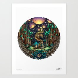 CAMPFIRE - COLORED - Visothkakvei Art Print