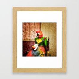 Banjo Birdy Plucks a Pretty Tune! Framed Art Print