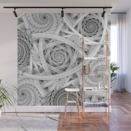 GET LOST - Black and White Spiral Wall Mural