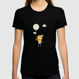 light bulb switch on the moon Be7r4 T-shirt