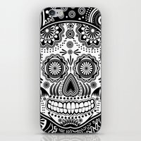 sugar skull iPhone & iPod Skins featuring sugar skull by Ancello