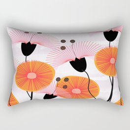 Weird Flowers Rectangular Pillow