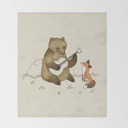 Bear & Fox Throw Blanket